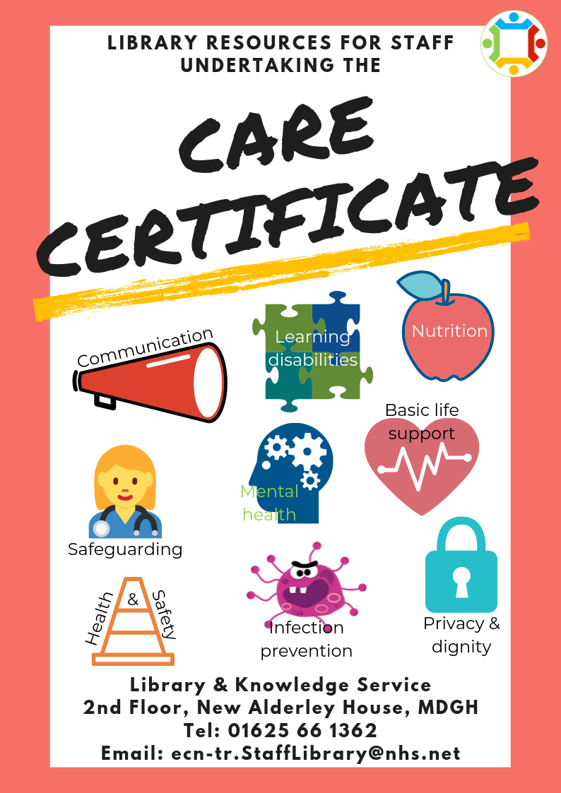 Library resources for the care certificate poster